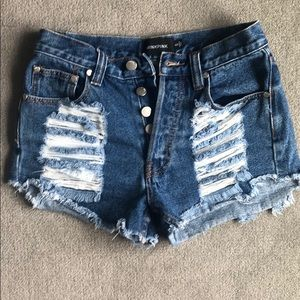 mink pink jean shorts